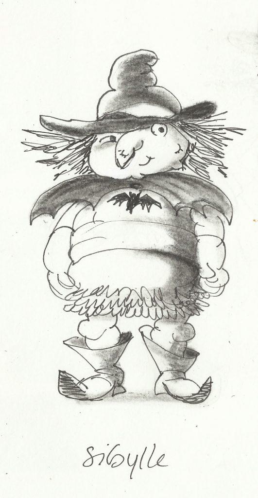 schets heksje Sybille