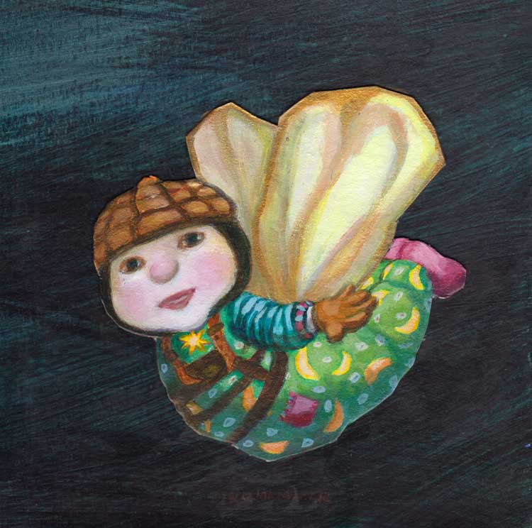 acrylverf, schilderij engel