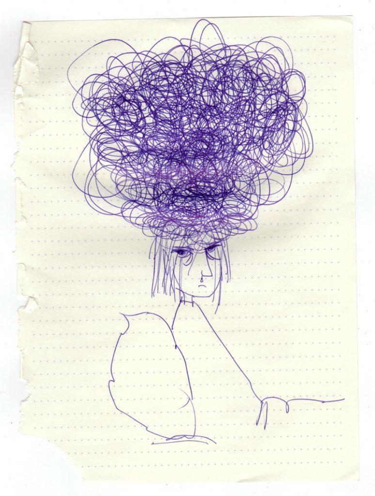 ziek, illustratie