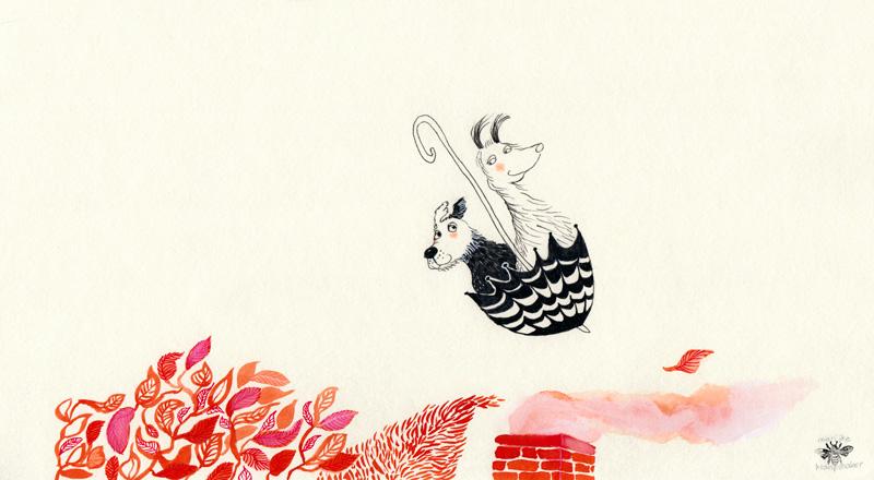 honden, illustratie, tekening, Valentijnsdag