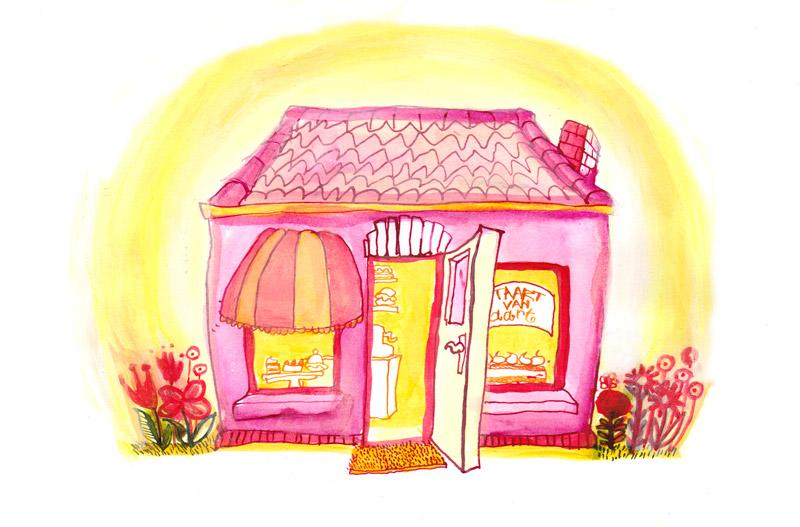 winkel, blog, illustratie