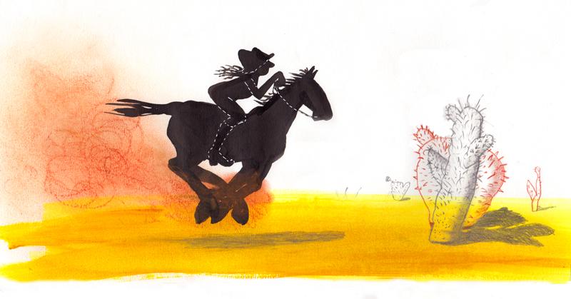 illustratie, paard, blog