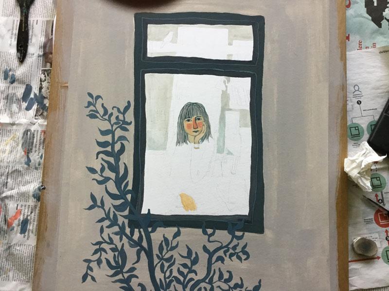 schilderij puber