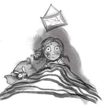 zwart-wit illustratie