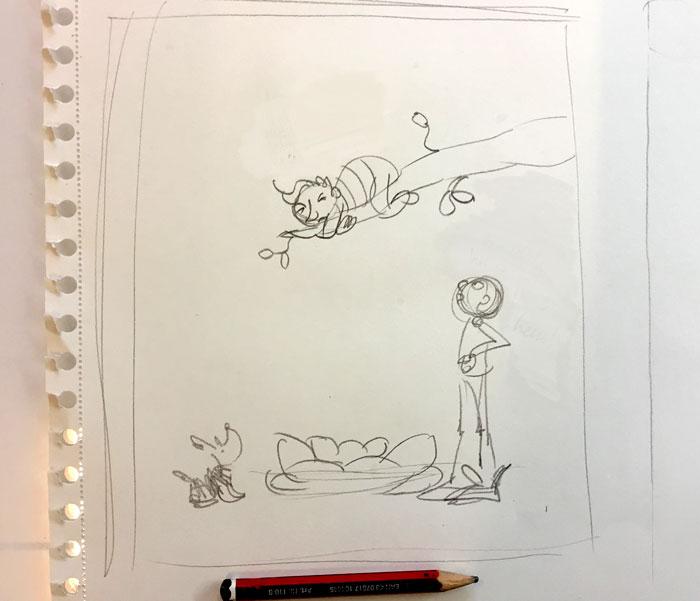 overdrijven in tekening