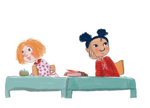 illustratie voor AVI boekje
