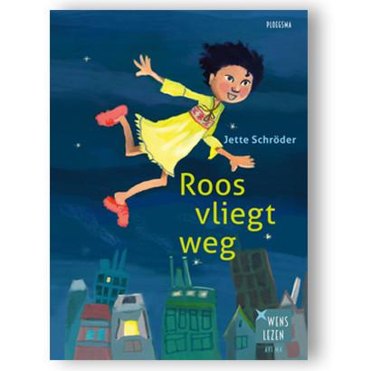 Roos vliegt weg illustratie Marijke Klompmaker