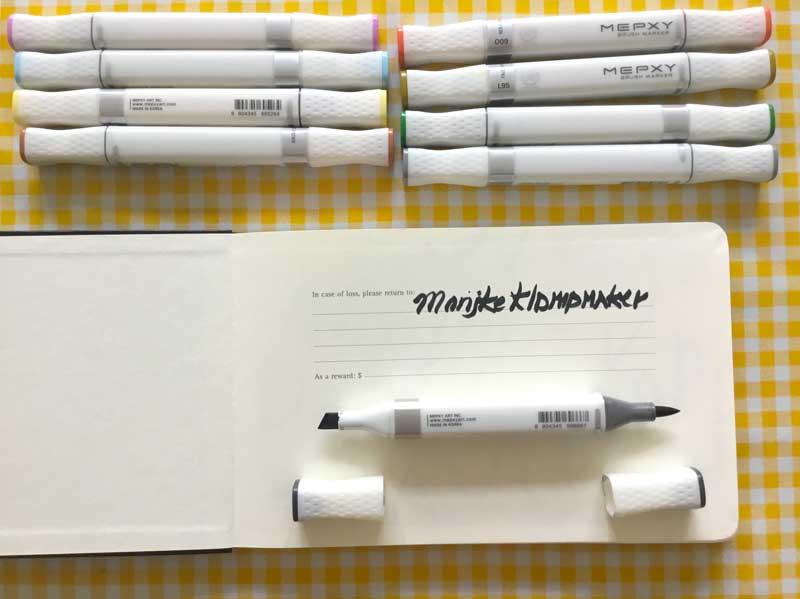 tekenen met markers