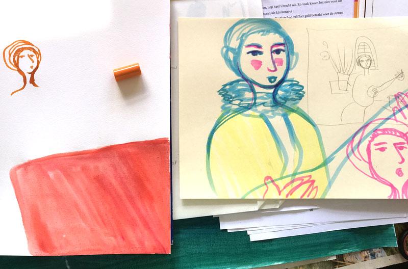 experimenteren voor portretten