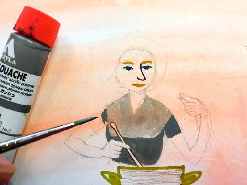 tekening warme kleuren