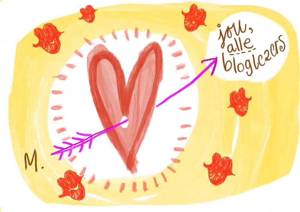 hartjes voor Valtentijnsdag voor de booglezers
